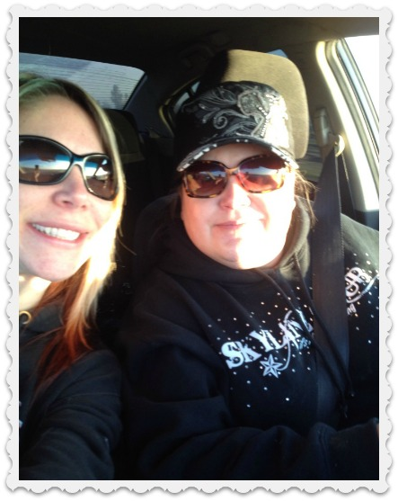 Heather & friend - off to Cayucos for Polar Bear Plunge